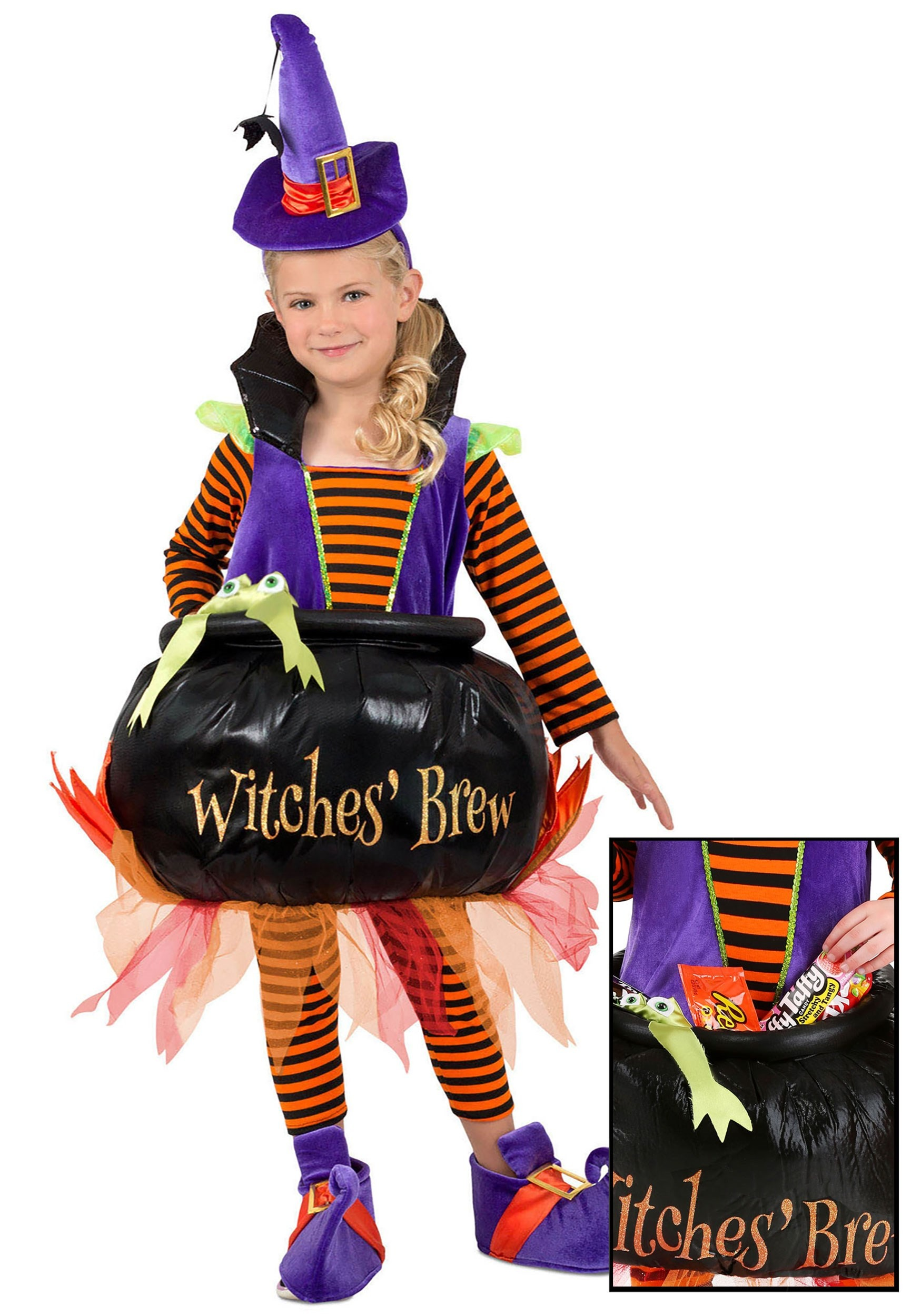 Candy Catcher Cauldron Witch Toddler Costume
