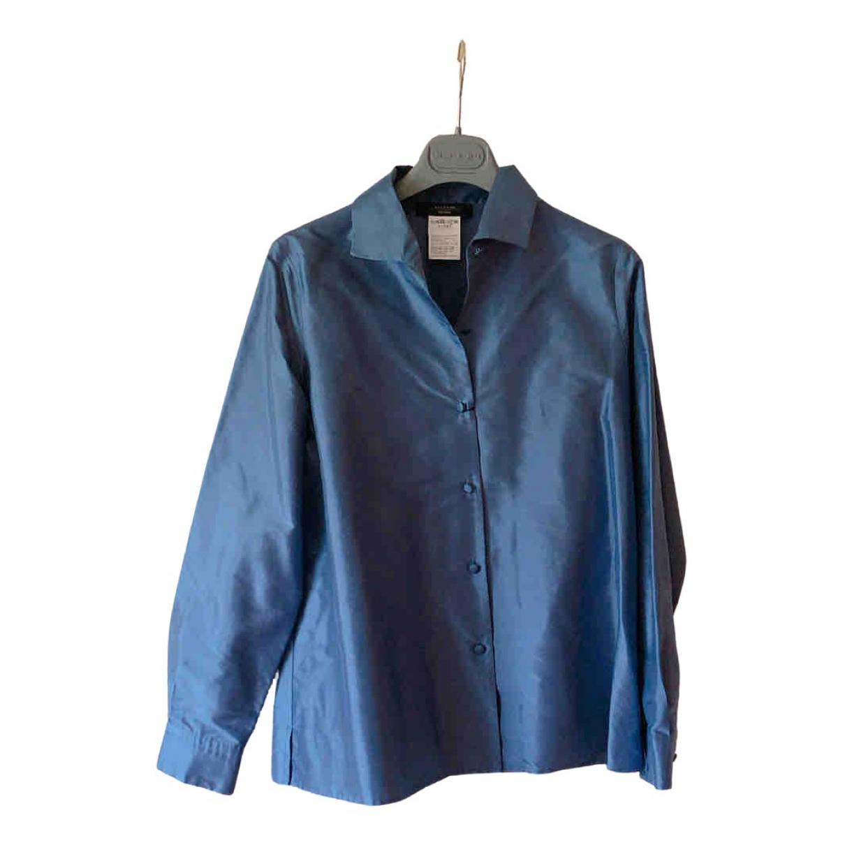 Max Mara Weekend - Top   pour femme en soie - bleu