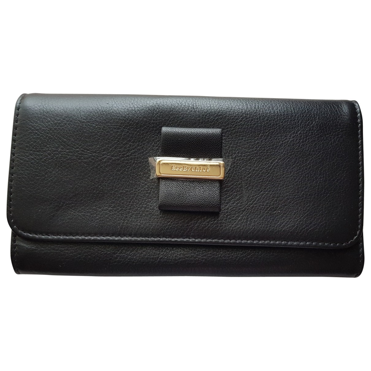 See By Chloé \N Black Leather wallet for Women \N