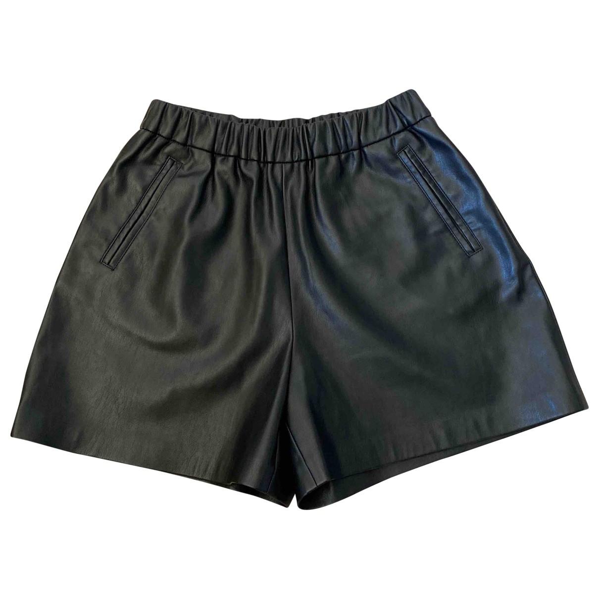 Pinko \N Shorts in  Schwarz Leder