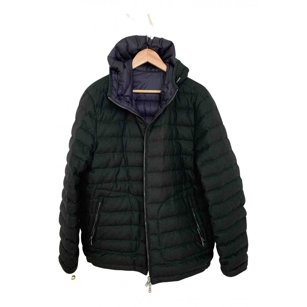 Moncler - Manteau   pour homme en laine - vert