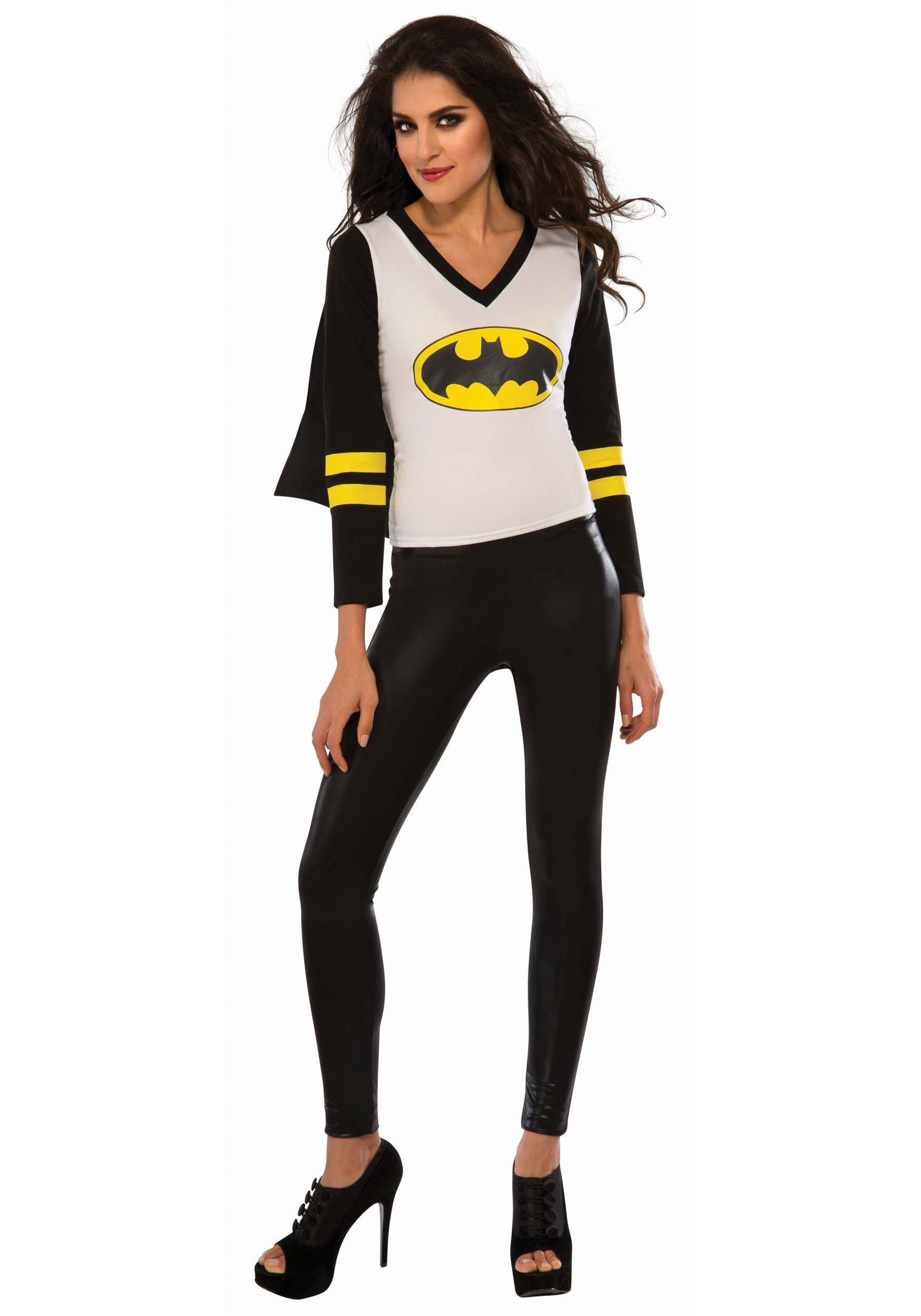 Womens Batgirl Sporty Tee with Cape Costume
