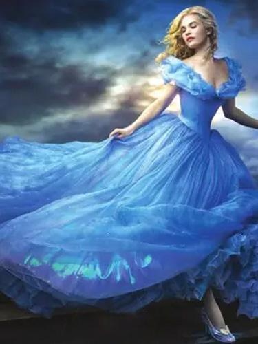 Milanoo Disfraz Halloween Cenicienta de Halloween vestido de Cosplay traje de princesa azul adulto Halloween