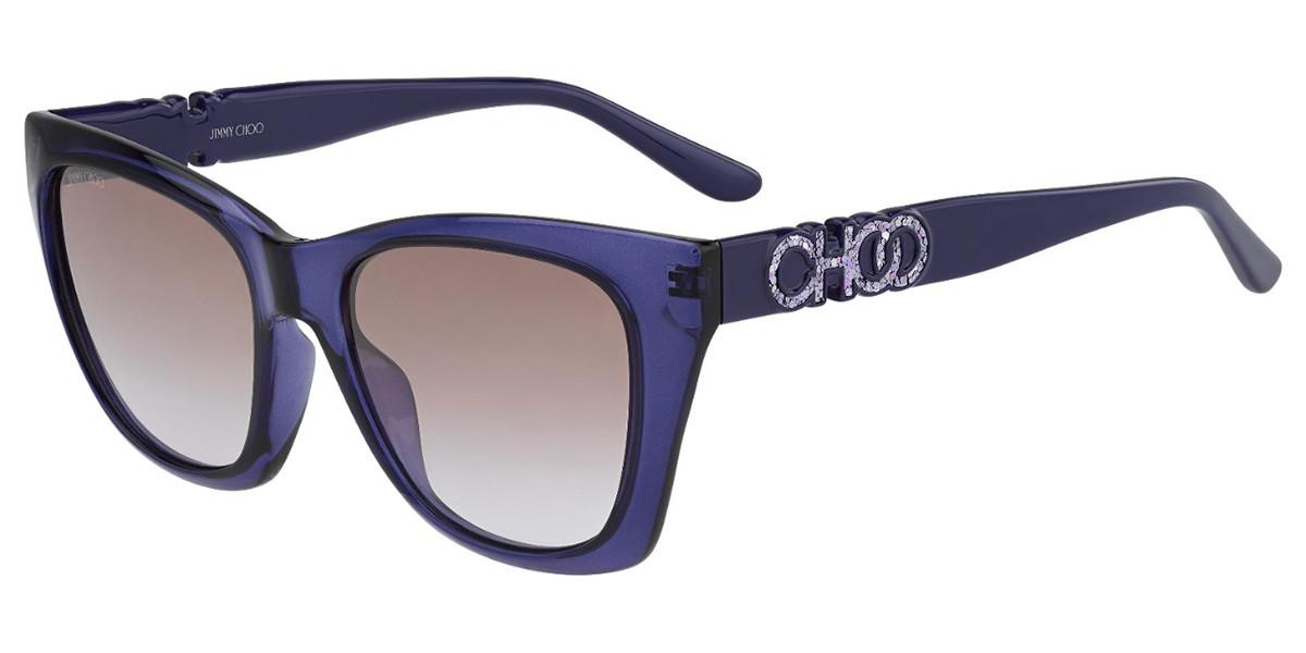 Jimmy Choo Rikki/G/S B3V/QR Women's Sunglasses Violet Size 55