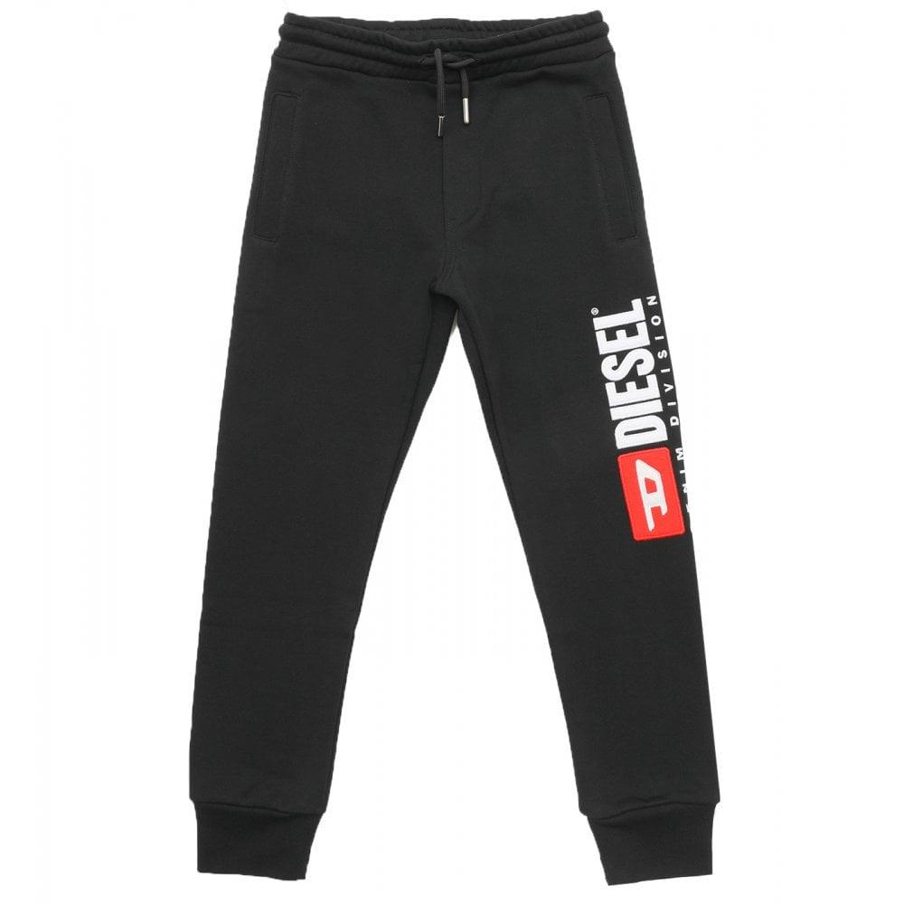 Diesel Logo Sweat Pants Colour: BLACK, Size: 16 YEARS
