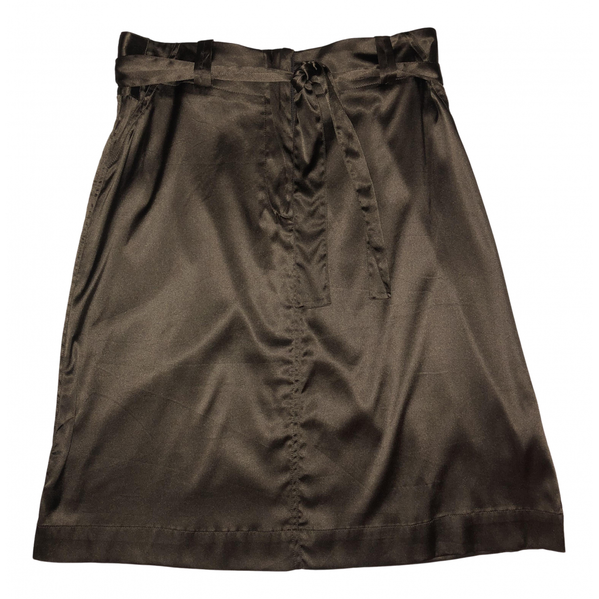 Non Signé / Unsigned \N Brown Silk skirt for Women 36 FR