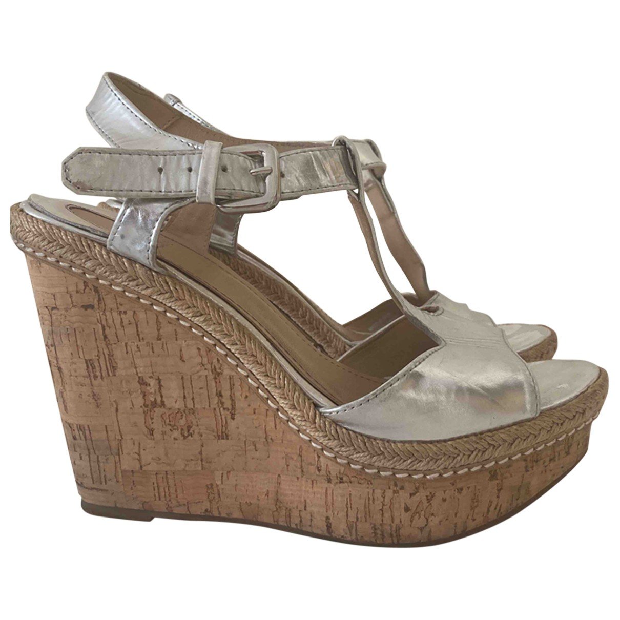 Uterque \N Silver Patent leather Sandals for Women 40 EU