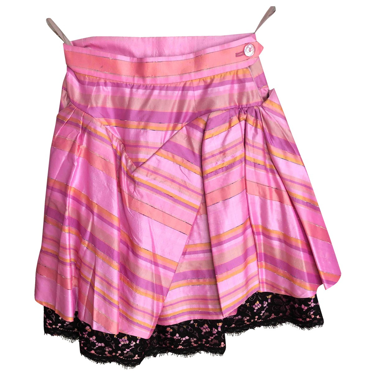 Christian Lacroix \N Pink Silk skirt for Women 34 FR