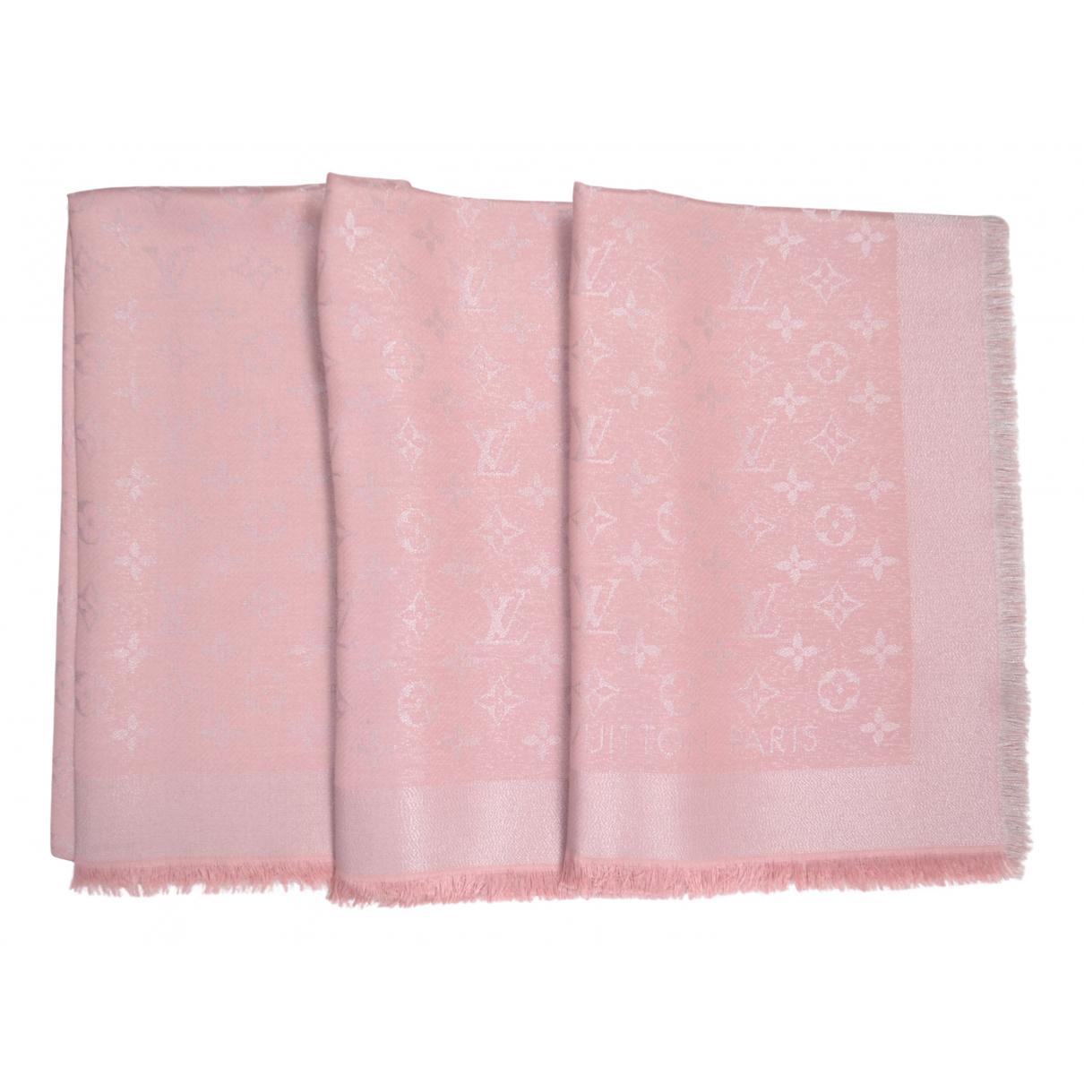 Louis Vuitton - Foulard Chale Monogram pour femme en soie - rose
