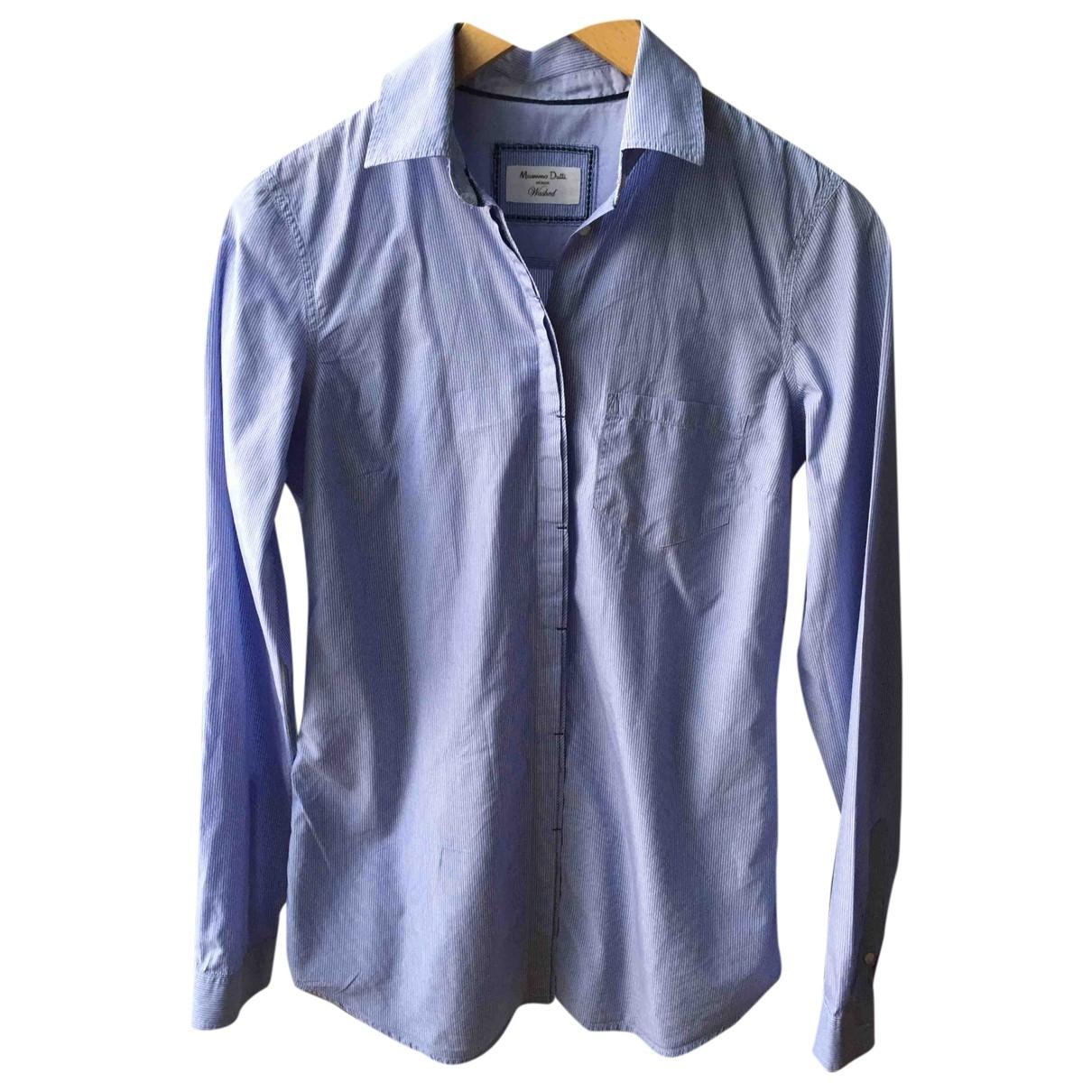 Massimo Dutti \N Blue Cotton  top for Women 38 FR
