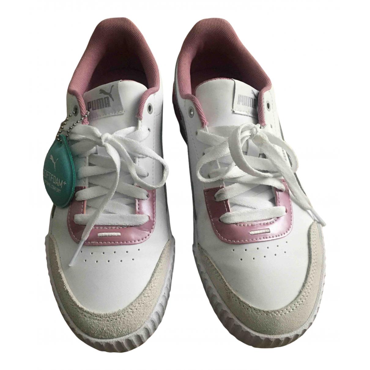 Puma \N Sneakers in  Weiss Kunststoff