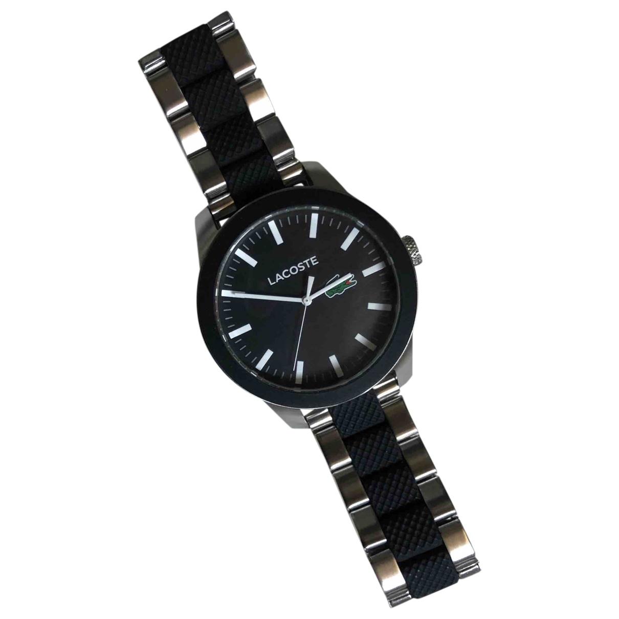 Lacoste \N Uhr in  Schwarz Stahl