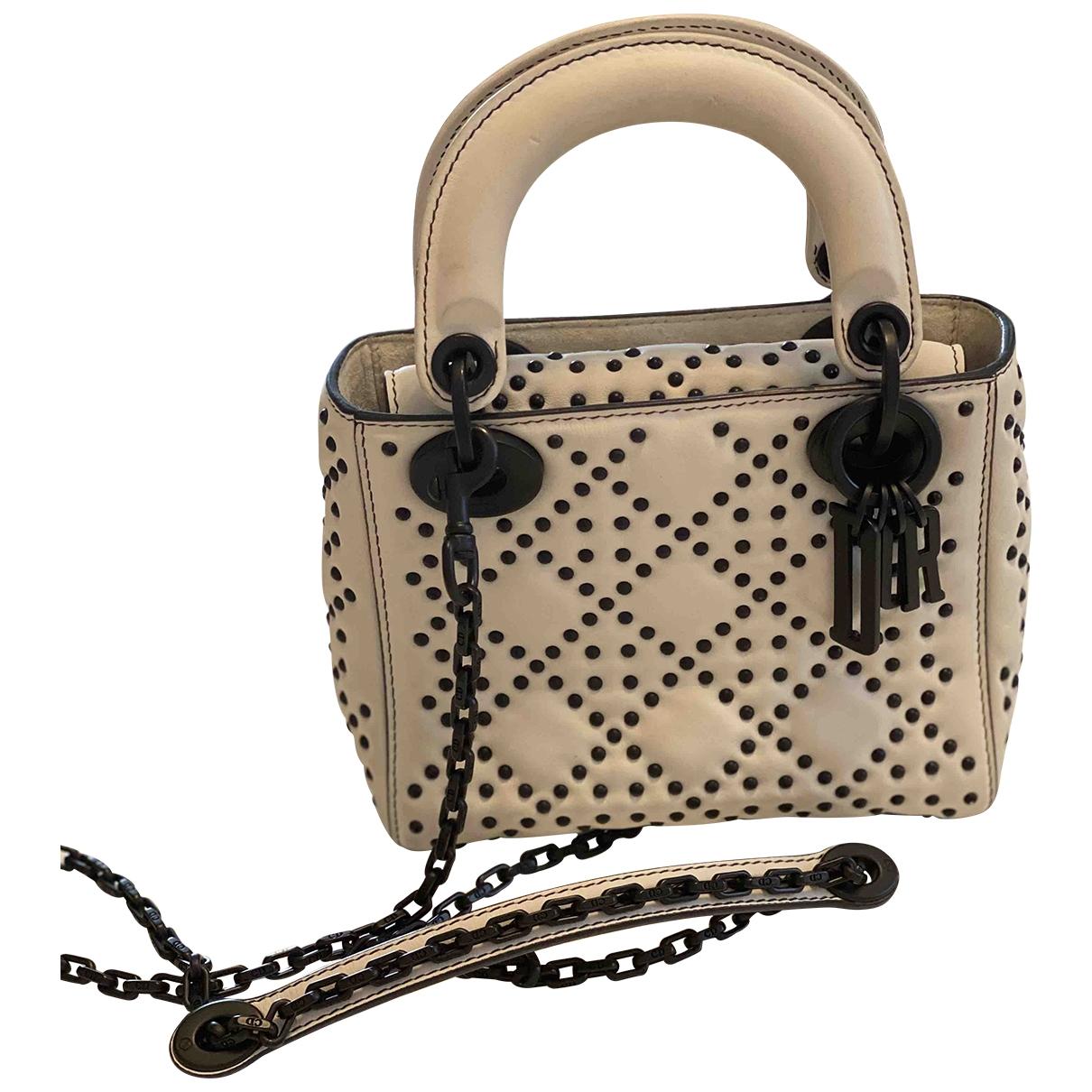 Dior Jadior Handtasche in  Weiss Leder