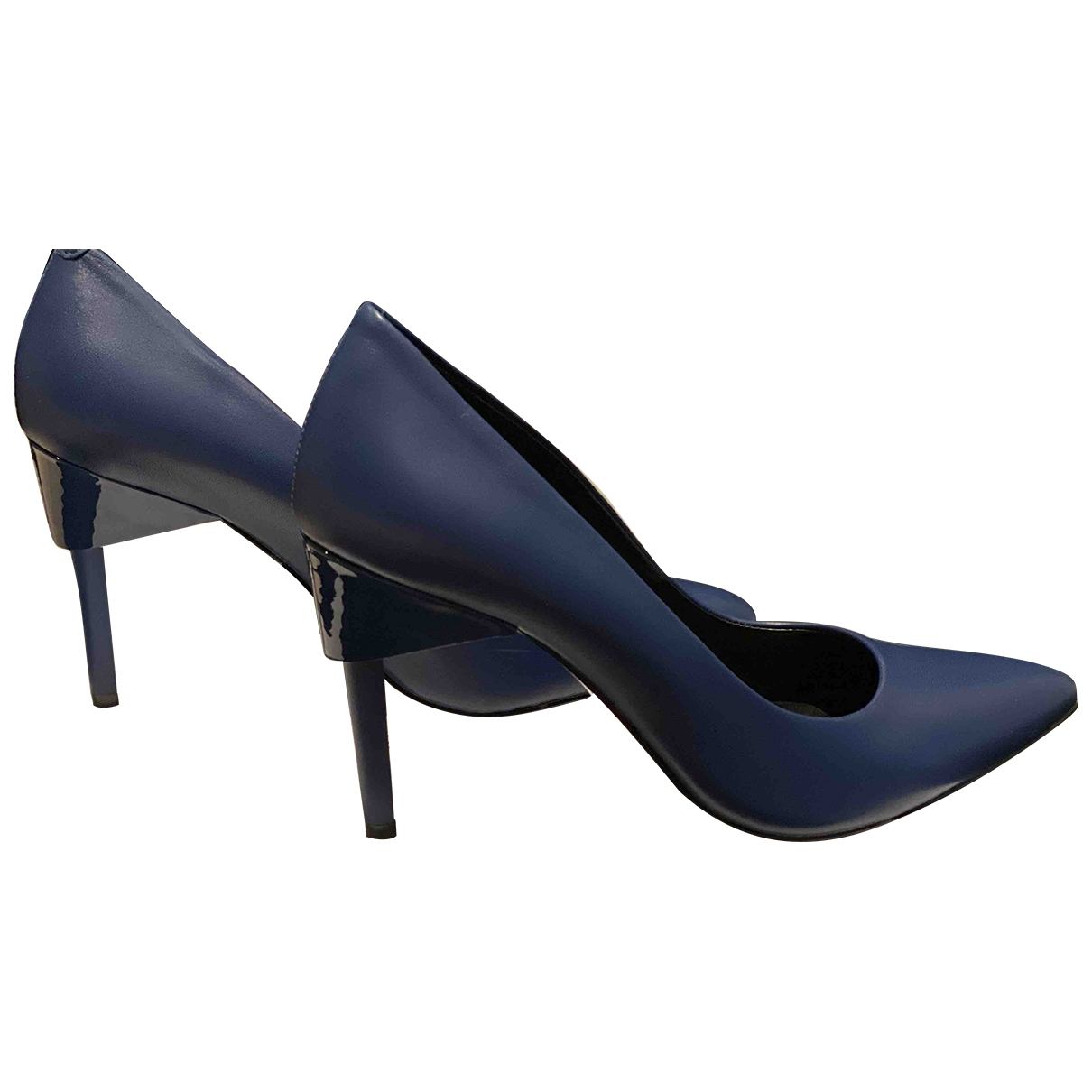 Calvin Klein \N Blue Leather Heels for Women 37 EU