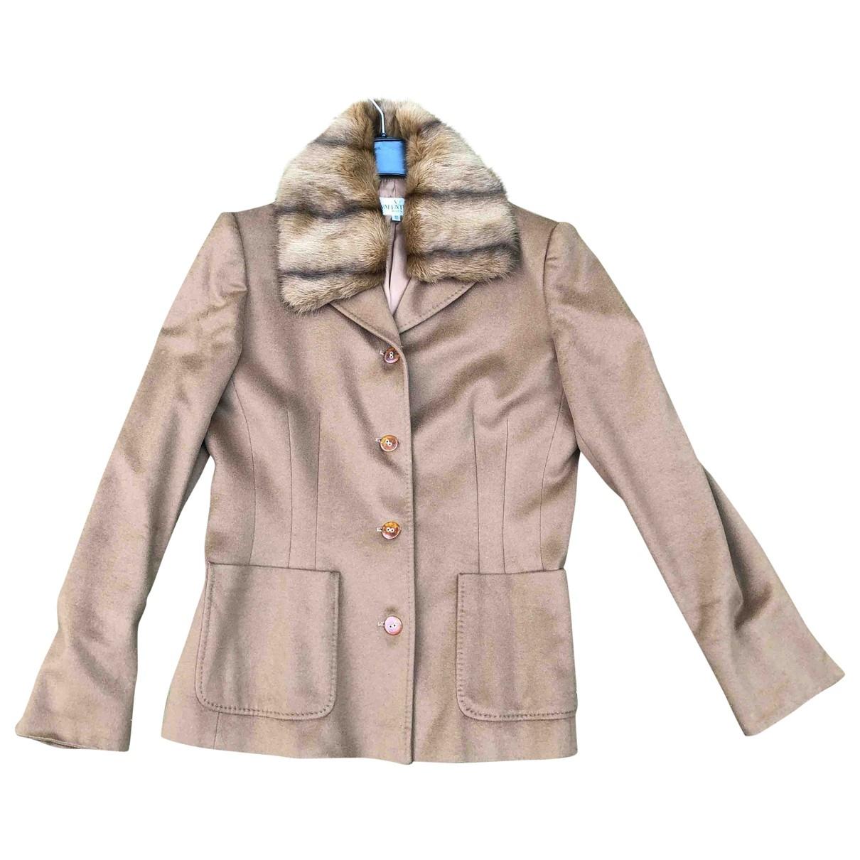 Valentino Garavani \N Camel Fur jacket for Women 46 IT