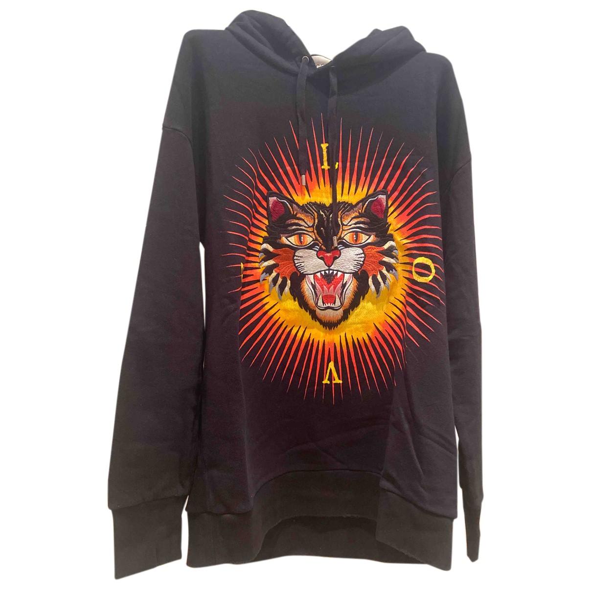 Gucci N Black Cotton Knitwear & Sweatshirts for Men L International