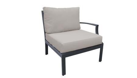 TKC067b-LAS-BEIGE Left Arm Chair - Ash and Beige