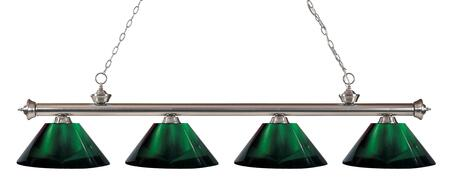 Riviera 200-4BN-ARG 14 4 Light Billiard Light Traditional  Classical  Billiardhave Steel Frame with Brushed Nickel finish in