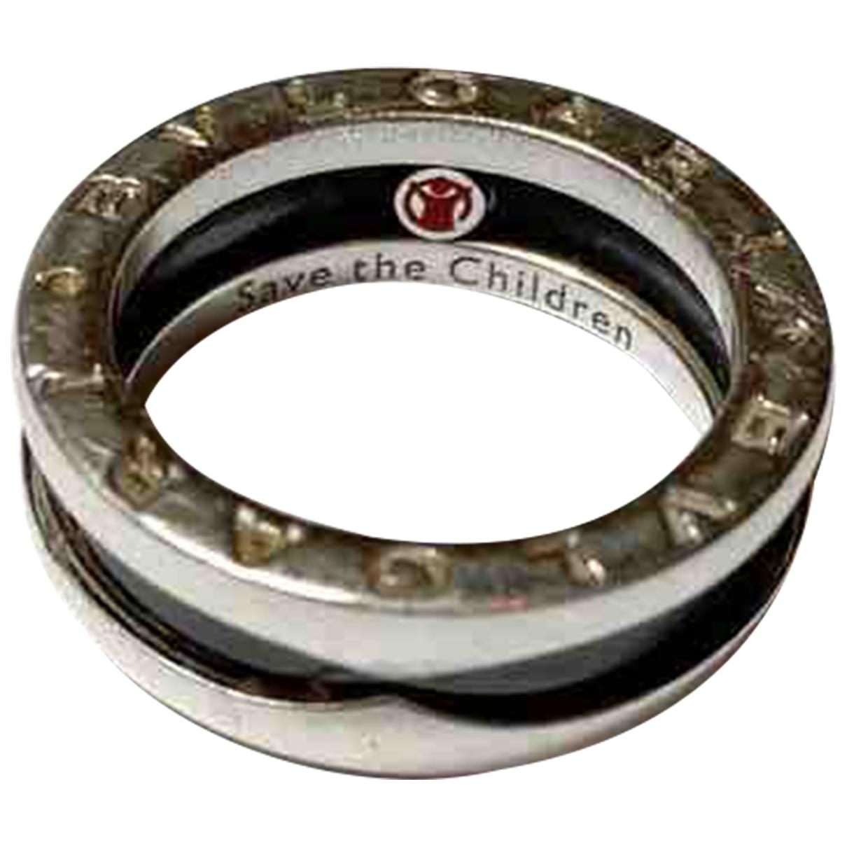 Bvlgari - Bague Save The Children pour femme en argent - noir