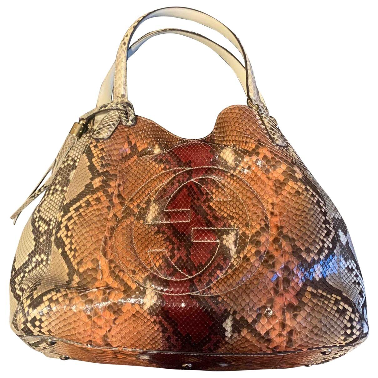 Gucci Soho Handtasche in  Braun Python