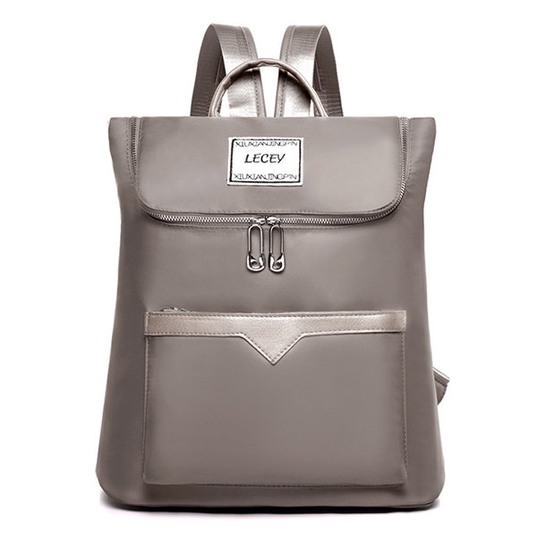 Women Solid Backpack Casual School Bag Leisure Shoulder Bag