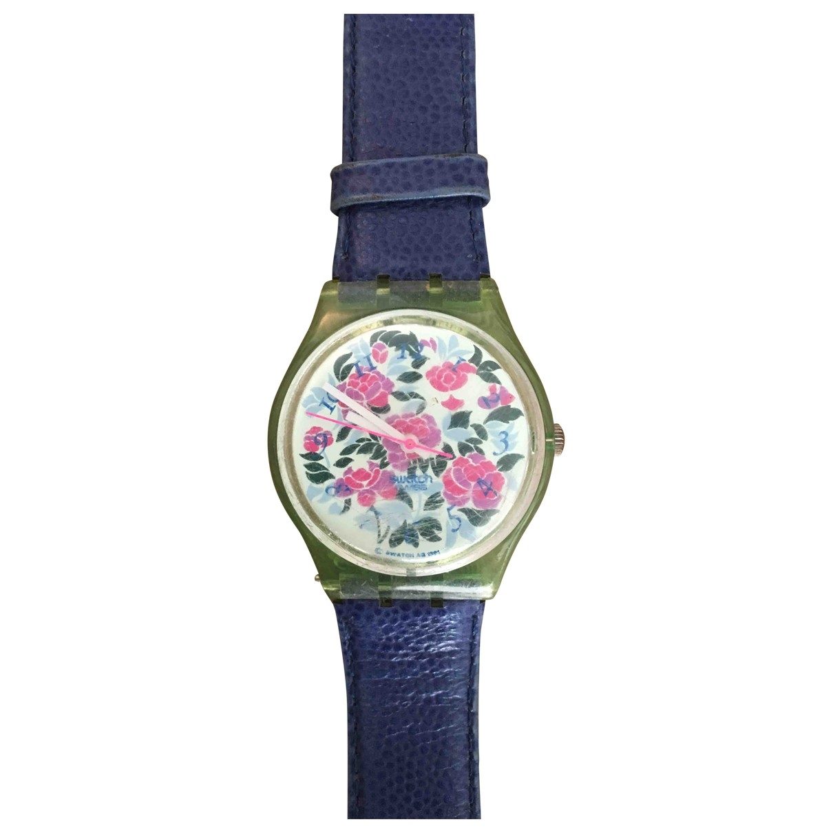 Swatch - Montre   pour femme en autre - bleu