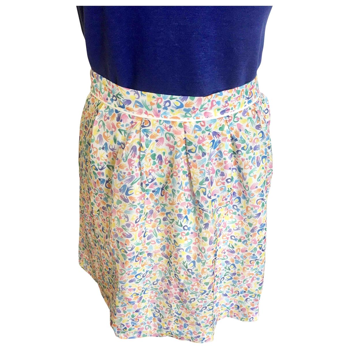 Non Signé / Unsigned \N Multicolour Silk skirt for Women 38 FR