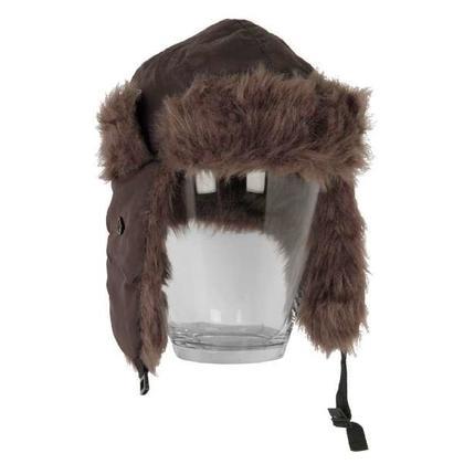 Chapeau brun fourrure 2asst. M/L