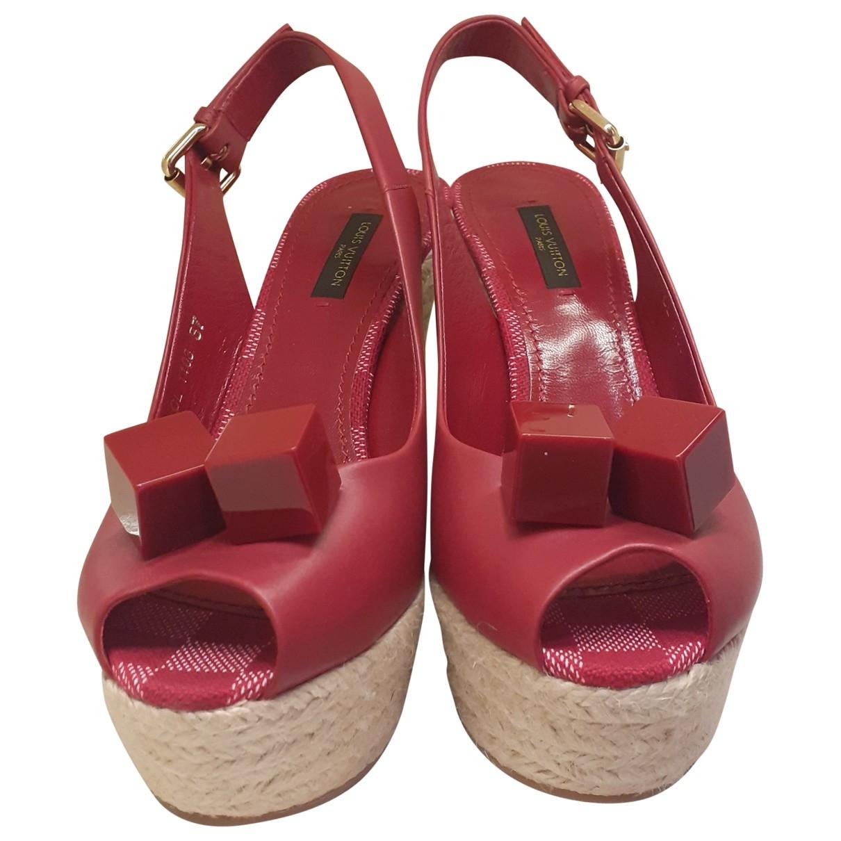 Louis Vuitton \N Espadrilles in  Rot Leder