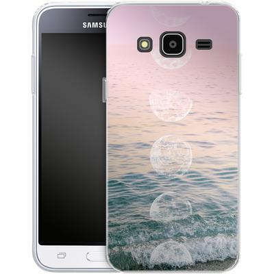 Samsung Galaxy J3 (2016) Silikon Handyhuelle - Moontime Beach von Emanuela Carratoni