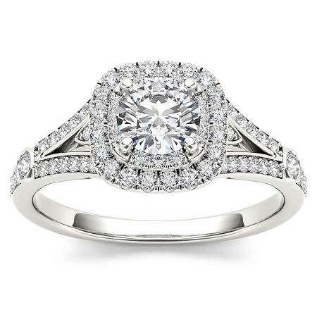 1 CT. T.W. Round White Diamond 14K Gold Engagement Ring, 8 1/2 , No Color Family