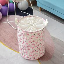 Flamingo Print Clothes Storage Basket