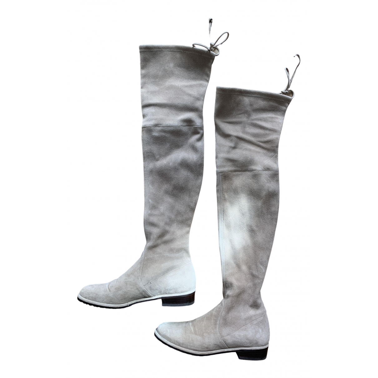 Stuart Weitzman \N Beige Suede Boots for Women 36 IT