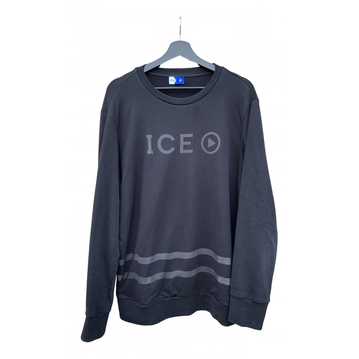 Iceberg \N Pullover.Westen.Sweatshirts  in  Schwarz Baumwolle