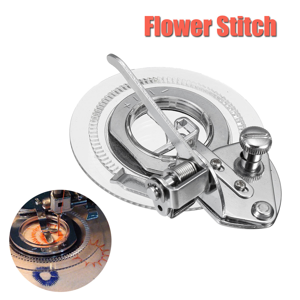 Flower Embroidery Durable Metal Multifunction Round Stitch Sewing Machine Presser Foot