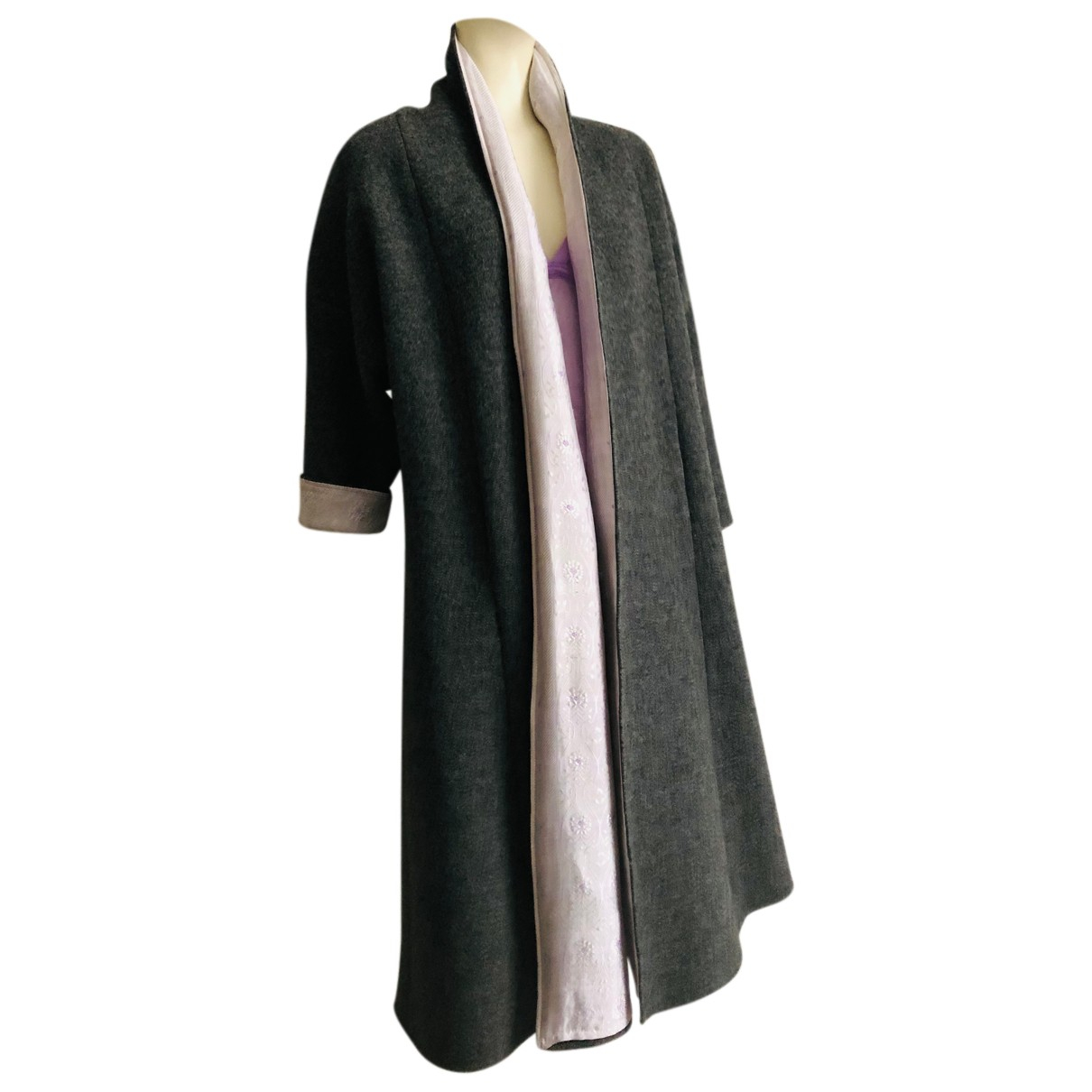 Autre Marque N Grey Wool coat for Women One Size International