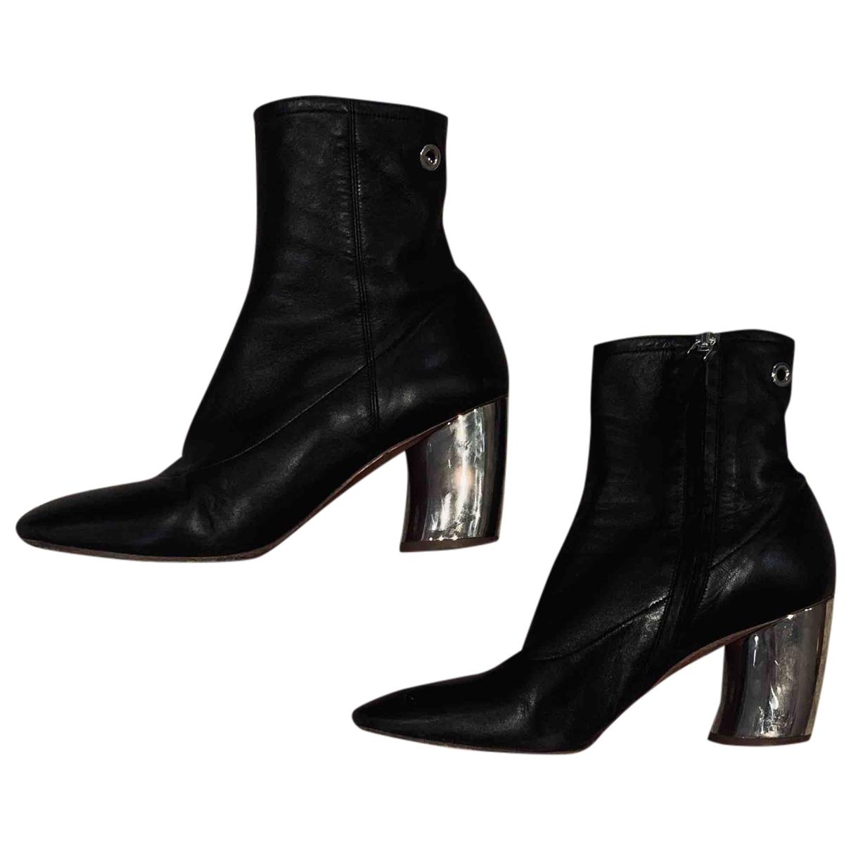 Proenza Schouler - Boots   pour femme en cuir - noir