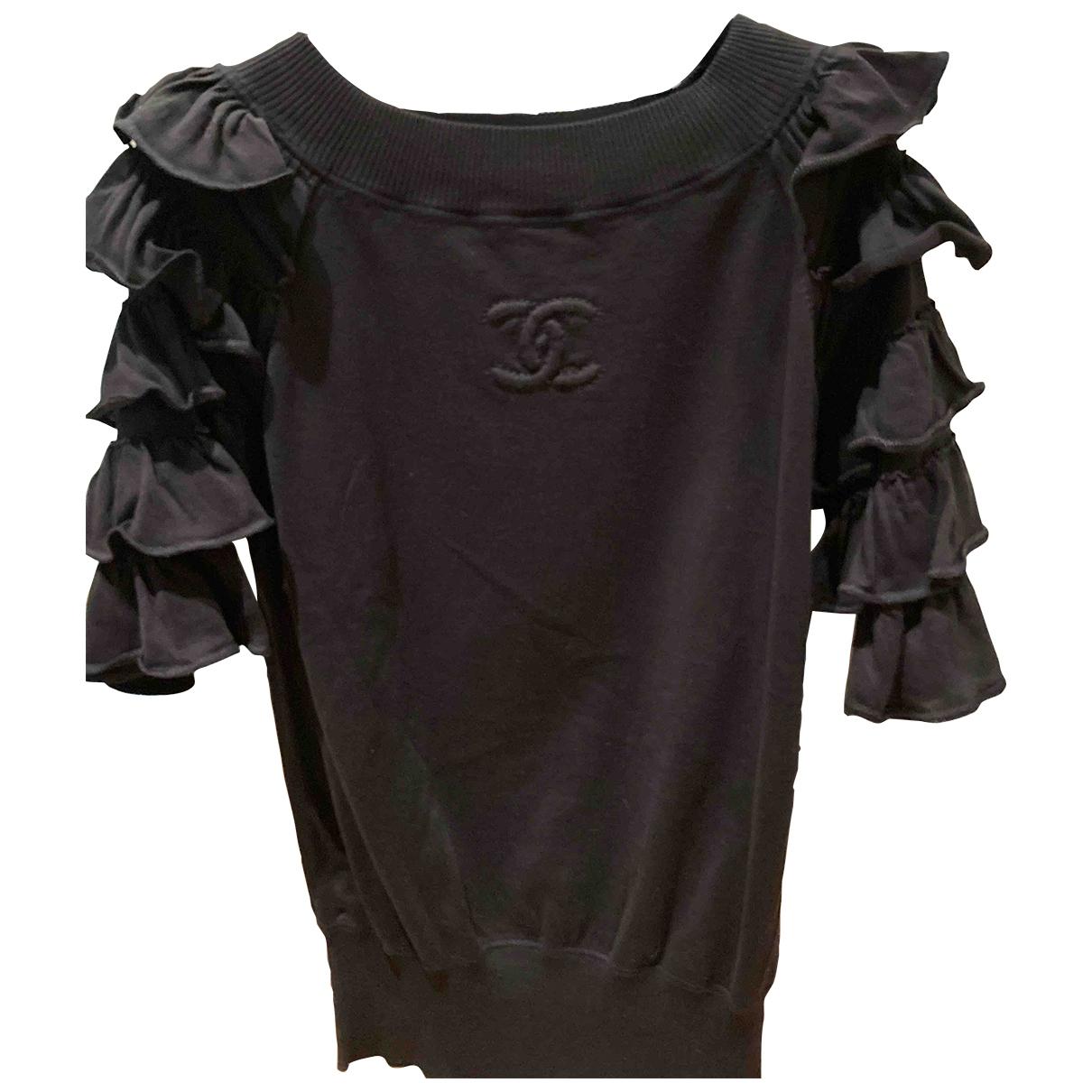 Chanel \N Pullover in  Schwarz Baumwolle