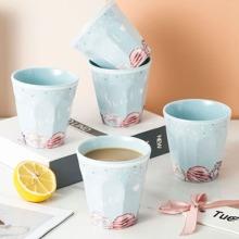 1pc Donuts Print Tea Cup