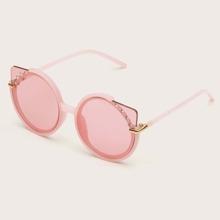 Maedchen Sonnenbrille mit Strass Dekor