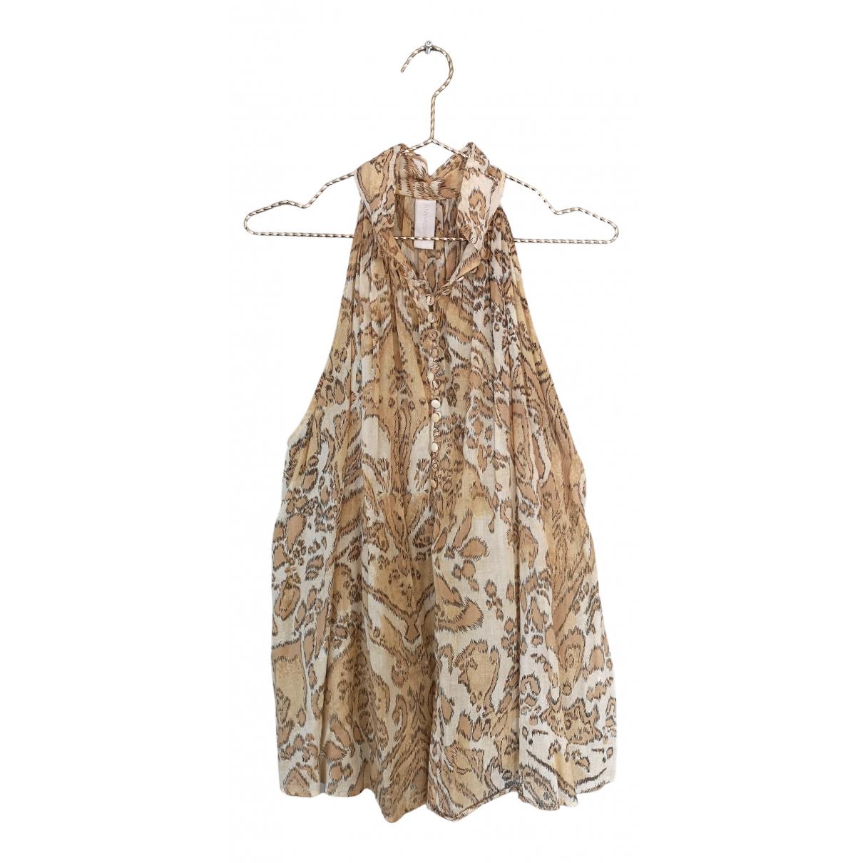 Zimmermann - Top   pour femme en coton - beige