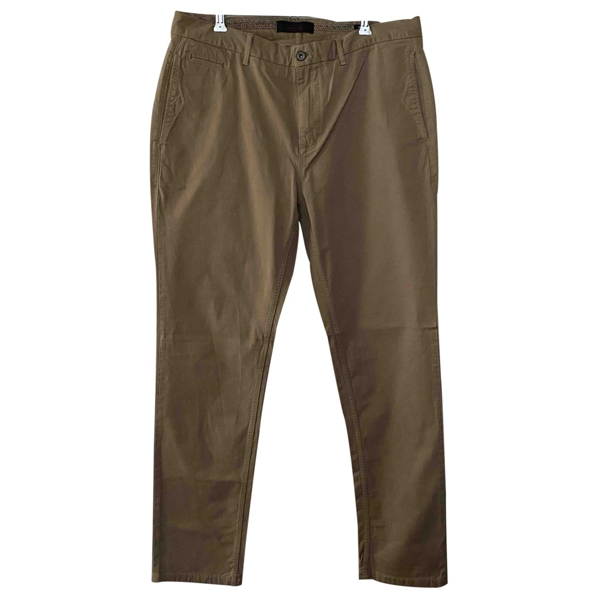 Scotch & Soda \N Beige Cotton Trousers for Men 34 UK - US