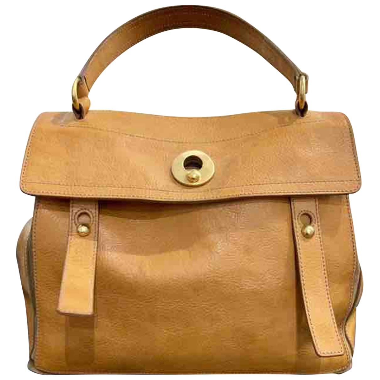 Yves Saint Laurent Muse Two Handtasche in  Beige Leder