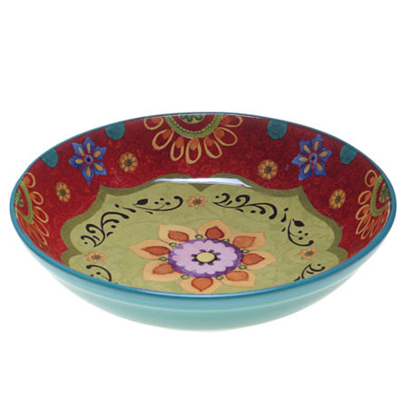 Certified International Tunisian Sunset Serving Bowl, One Size , Multiple Colors