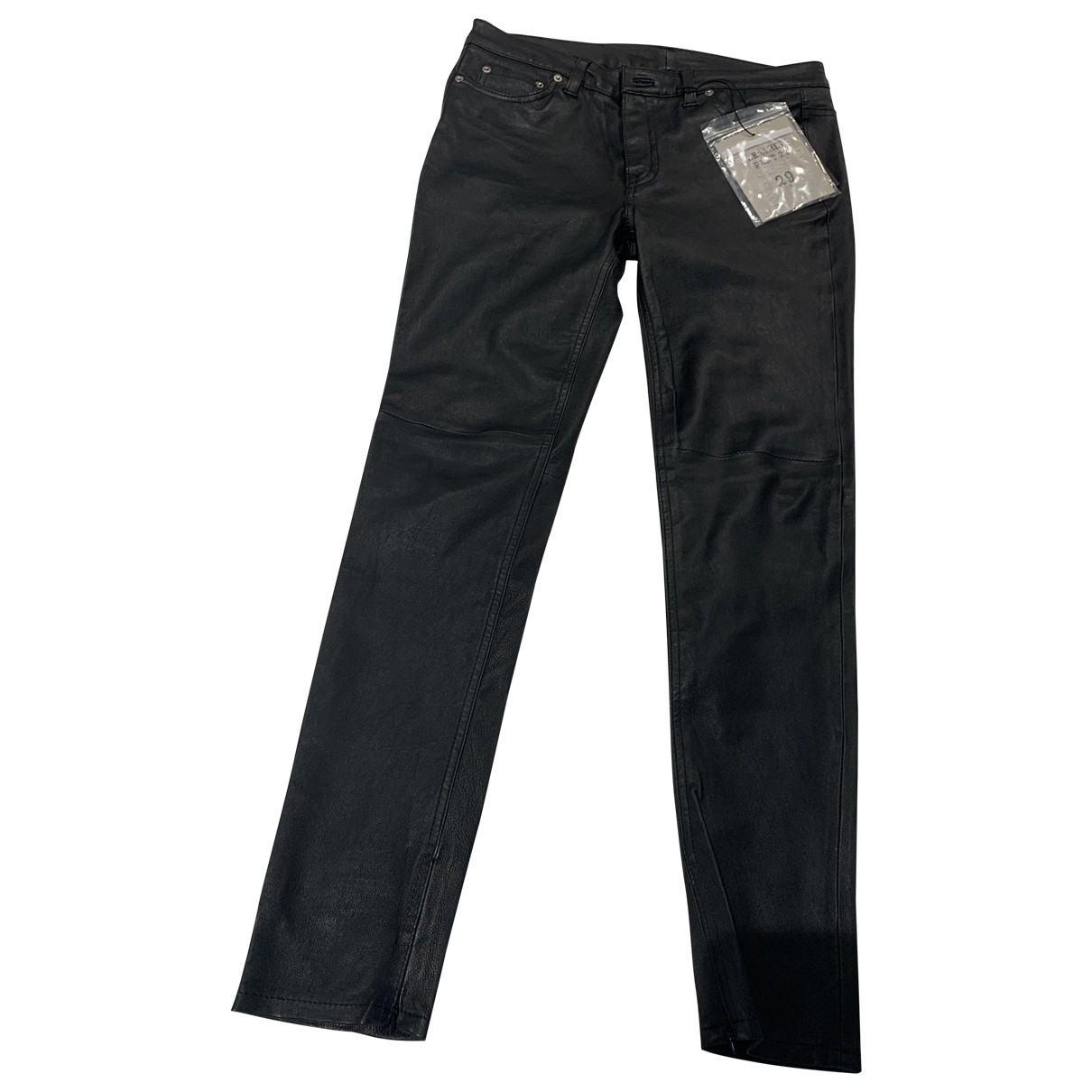 Blk Dnm \N Black Leather Trousers for Women M International