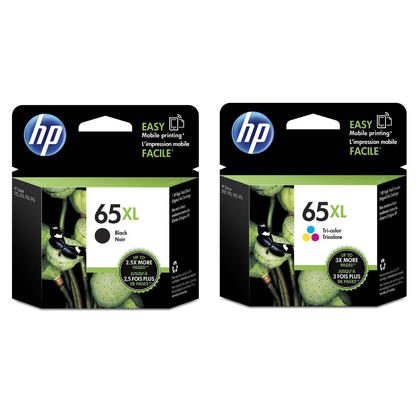 HP 65XL N9K04AN N9K03AN Original Black and Color Ink Cartridge Combo High Yield