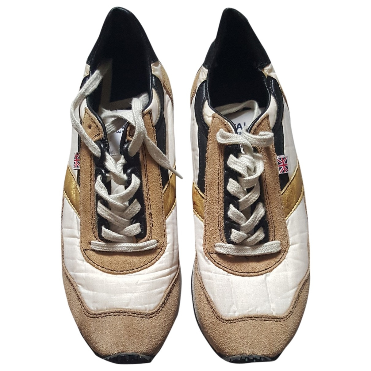 Non Signé / Unsigned \N Beige Rubber Trainers for Women 37 EU