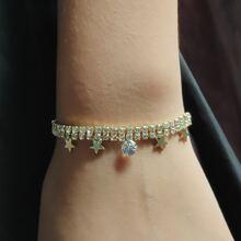 Rhinestone Star Decor Bracelet