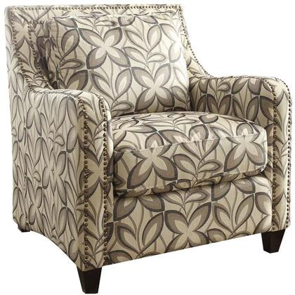 Ushury Collection 53592 Chair with Nail Head Trim  Loose Back Cushion  Down Feather Fill Seat Cushion  Welt Edge  Wood Frame  Sloped Track Arms and