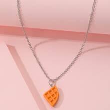 Halskette mit Waffle Dekor
